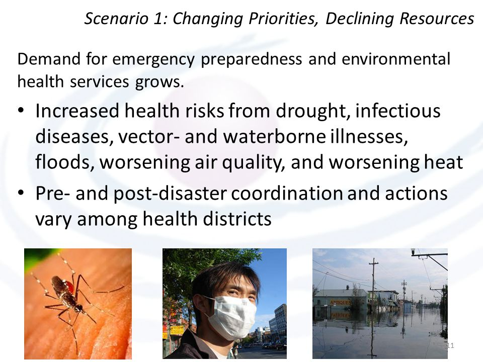 Demand for emergency preparedness and environmental health services grows.
