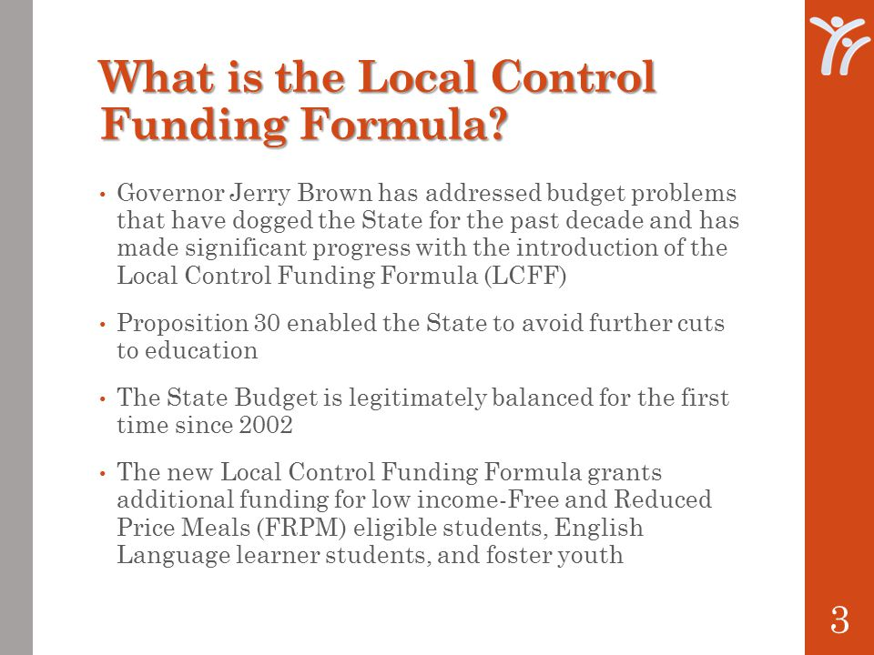 What is the Local Control Funding Formula.