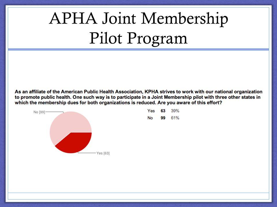 APHA Joint Membership Pilot Program