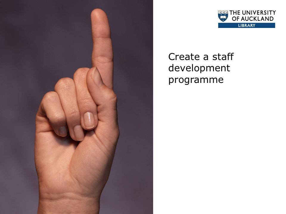 Create a staff development programme