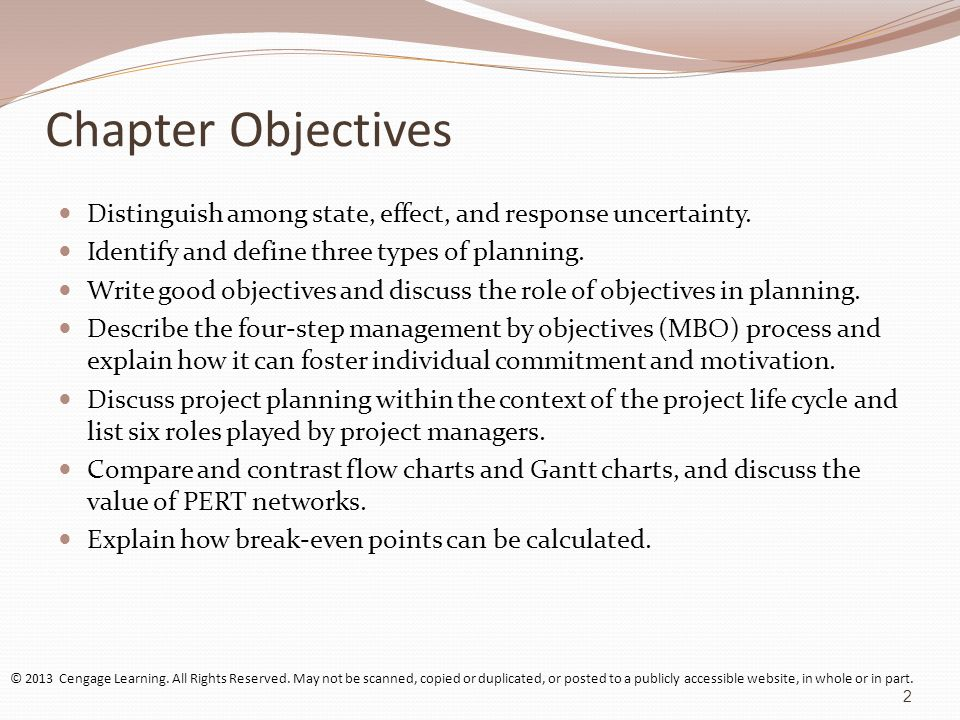 Chapter Objectives Distinguish among state, effect, and response uncertainty.