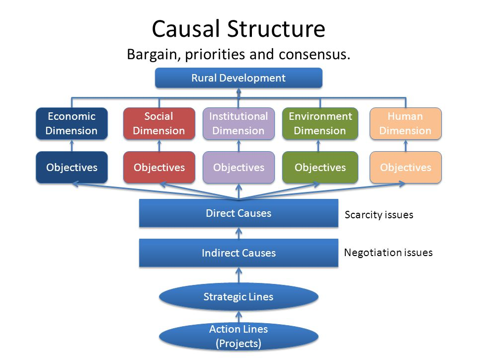Causal Structure Bargain, priorities and consensus.