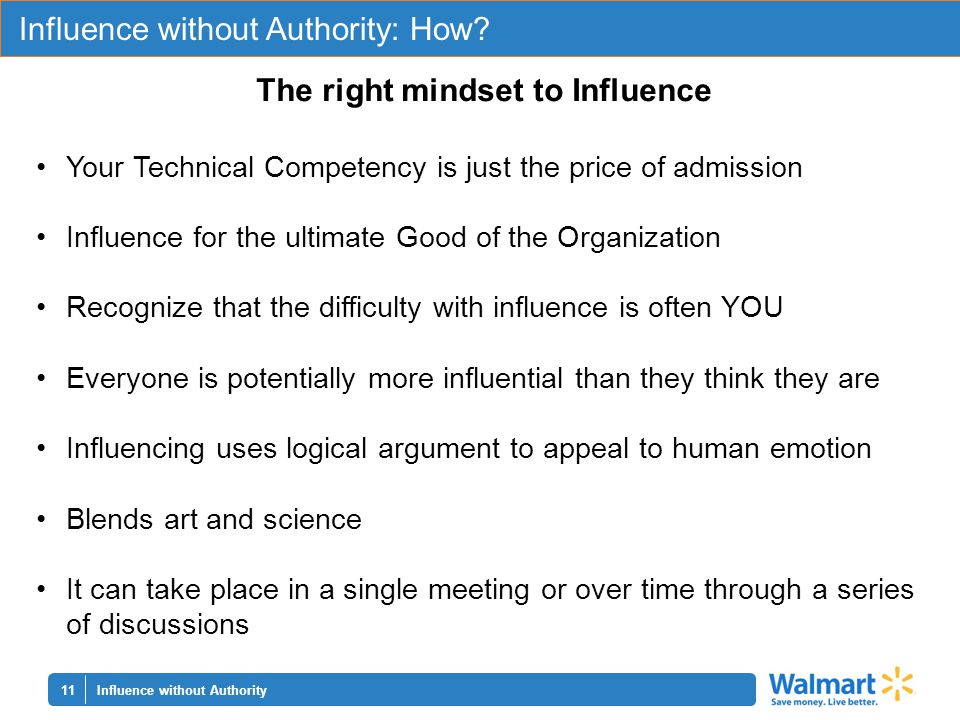 11 Influence without Authority: How.