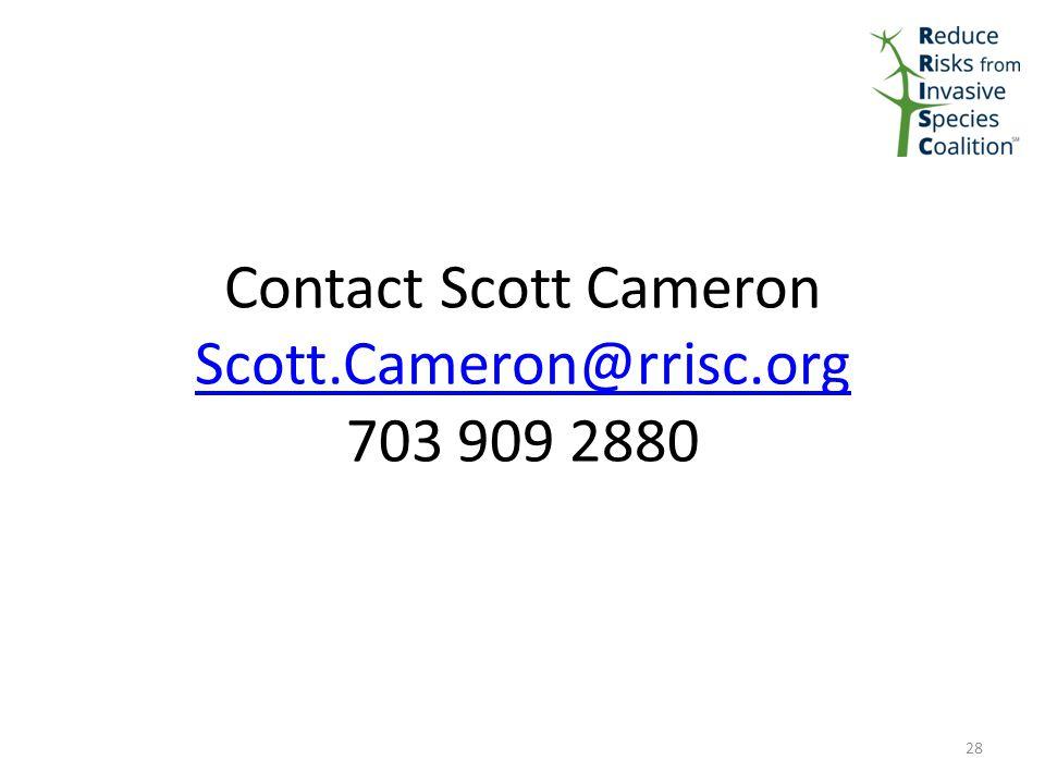 Contact Scott Cameron Scott.Cameron@rrisc.org 703 909 2880 Scott.Cameron@rrisc.org 28