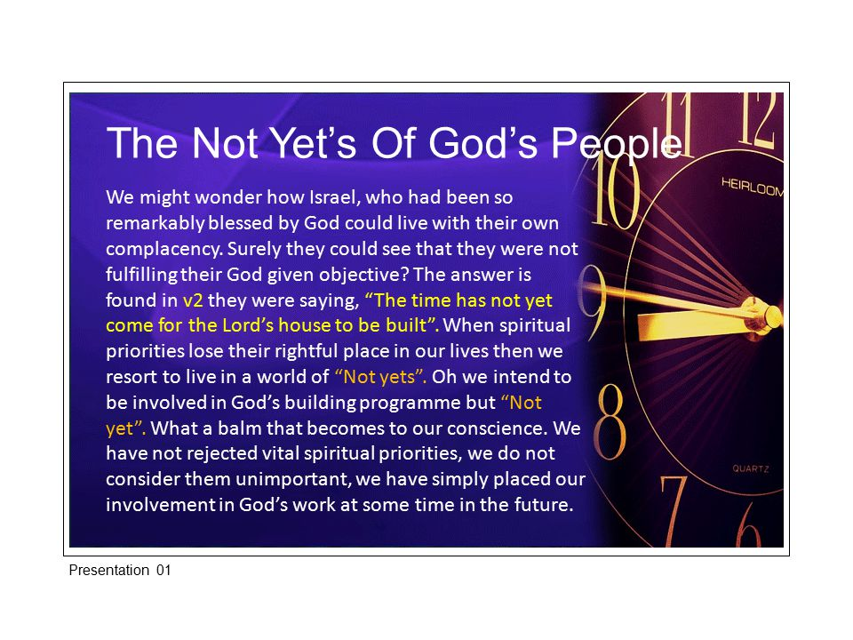 The Not Yet's Of God's People In Lk.