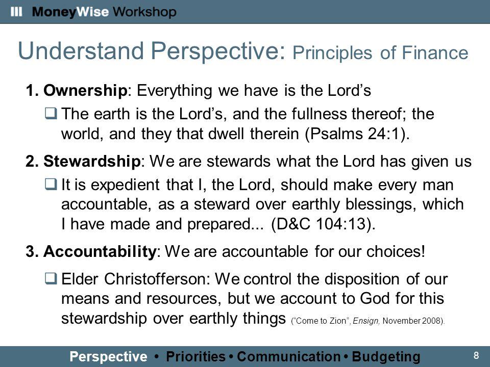 8 Understand Perspective: Principles of Finance 1.