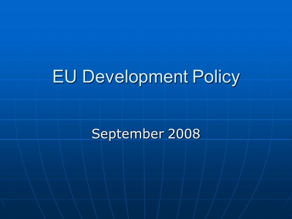 EU Development Policy September 2008