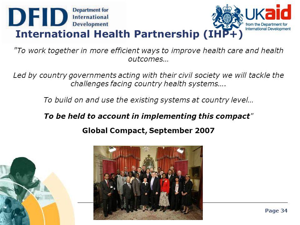 Page 34 International Health Partnership (IHP+)