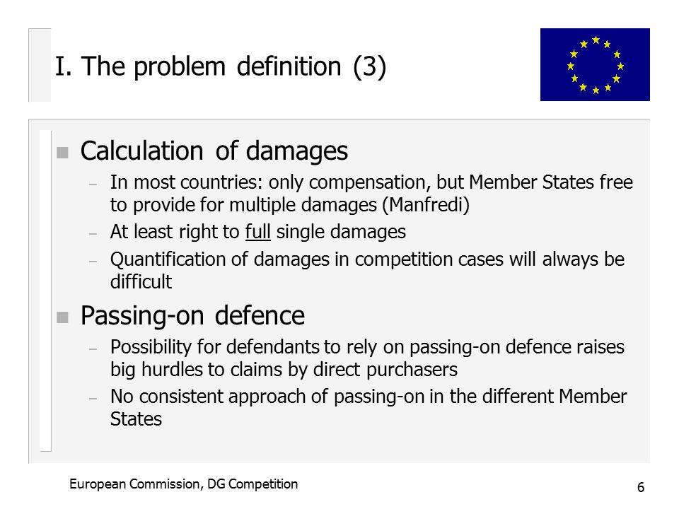 6 European Commission, DG Competition I.