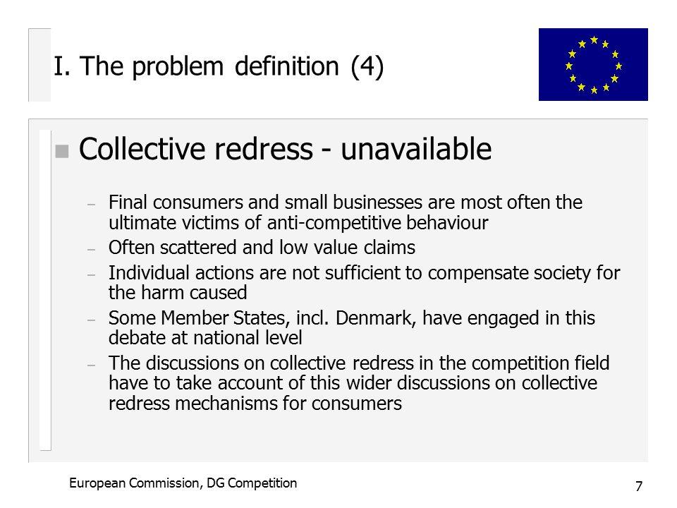 7 European Commission, DG Competition I.