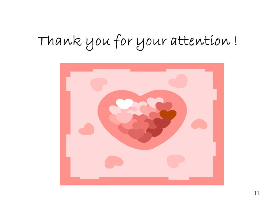 11 Thank you for your attention !