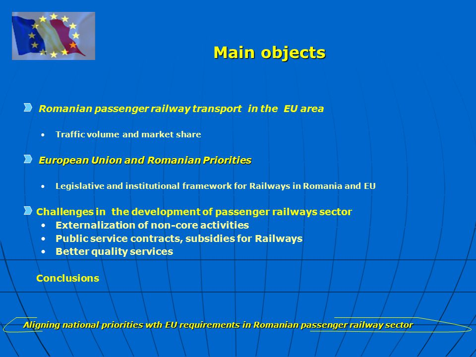 Challenges of development: PUBLIC SERVICE CONTRACT Revenues structure Aligning national priorities with EU requirements in Romanian passenger railway sector Operational Revenues 2004