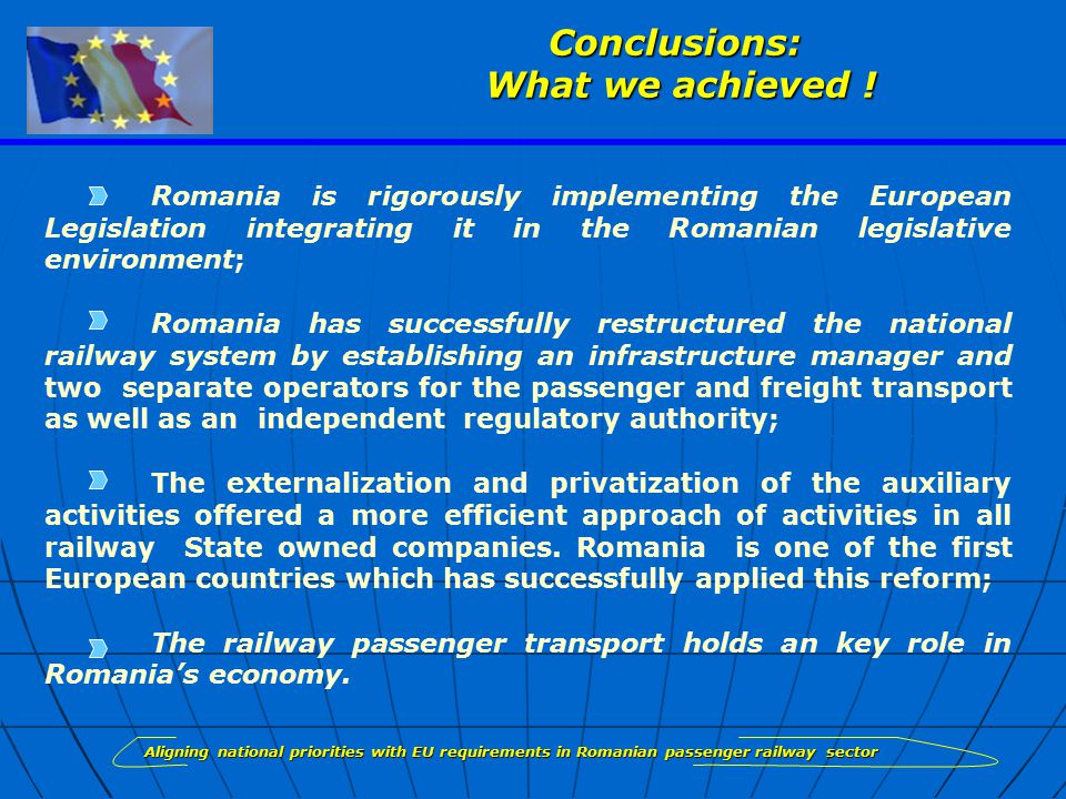 Conclusions: What we achieved .