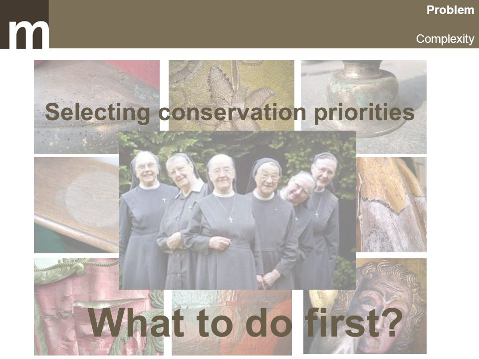 Problem Complexity Selecting conservation priorities What to do first?
