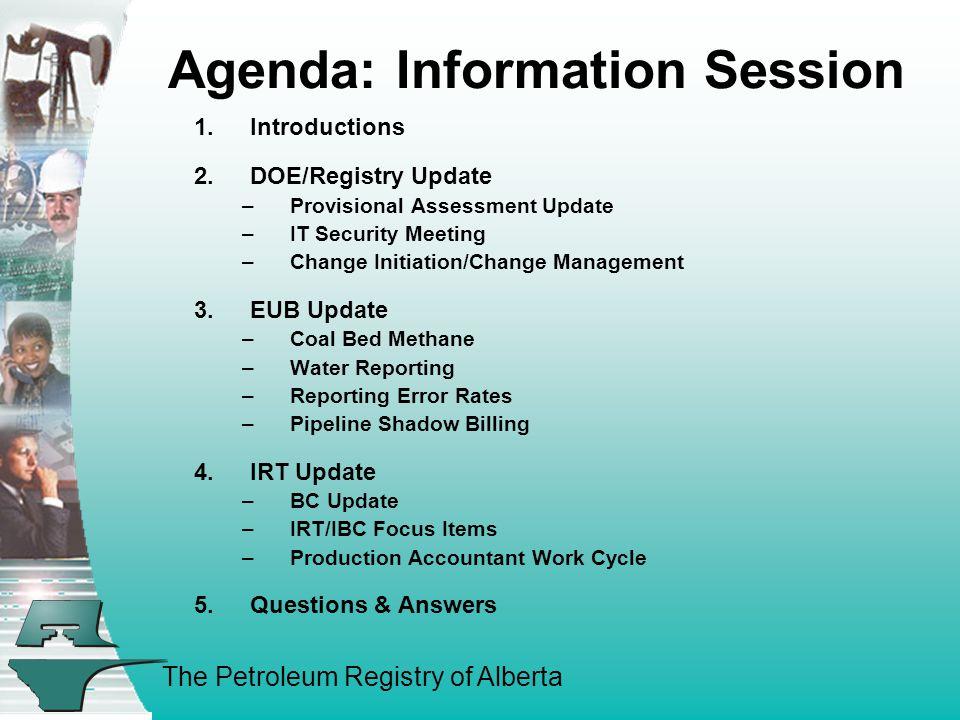 The Petroleum Registry of Alberta B.IBC 04/05 Priorities (con't) B.