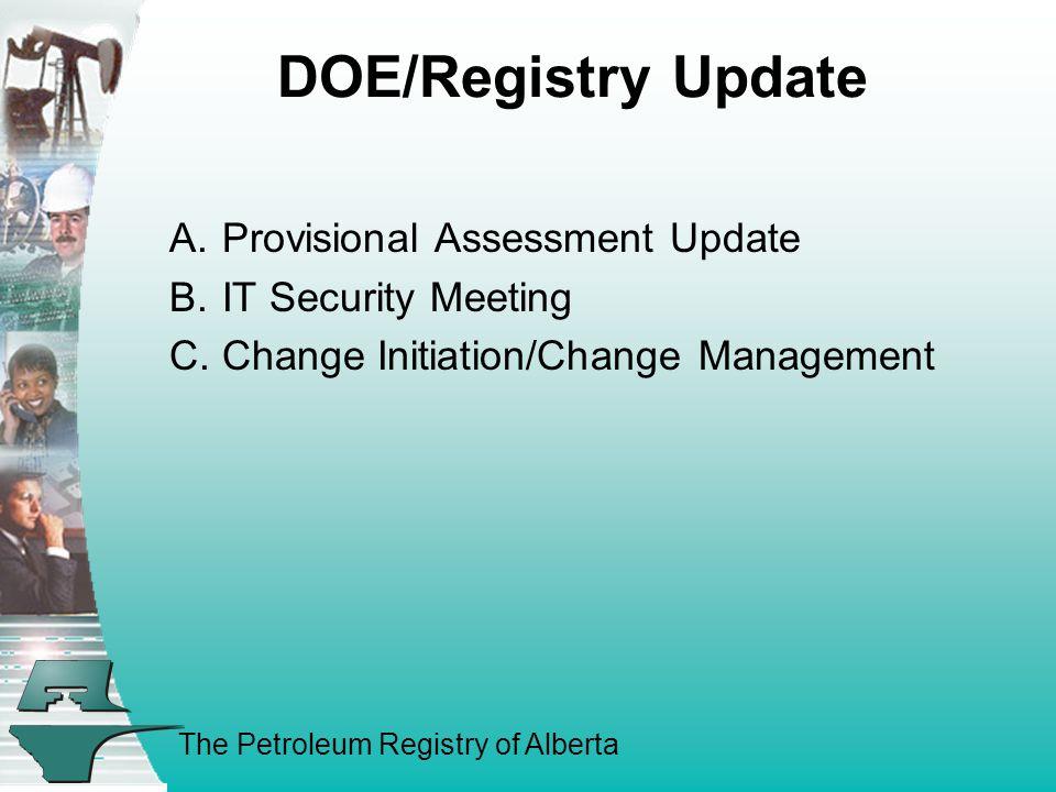 The Petroleum Registry of Alberta B.