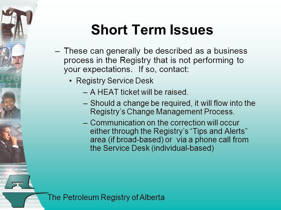 The Petroleum Registry of Alberta A.