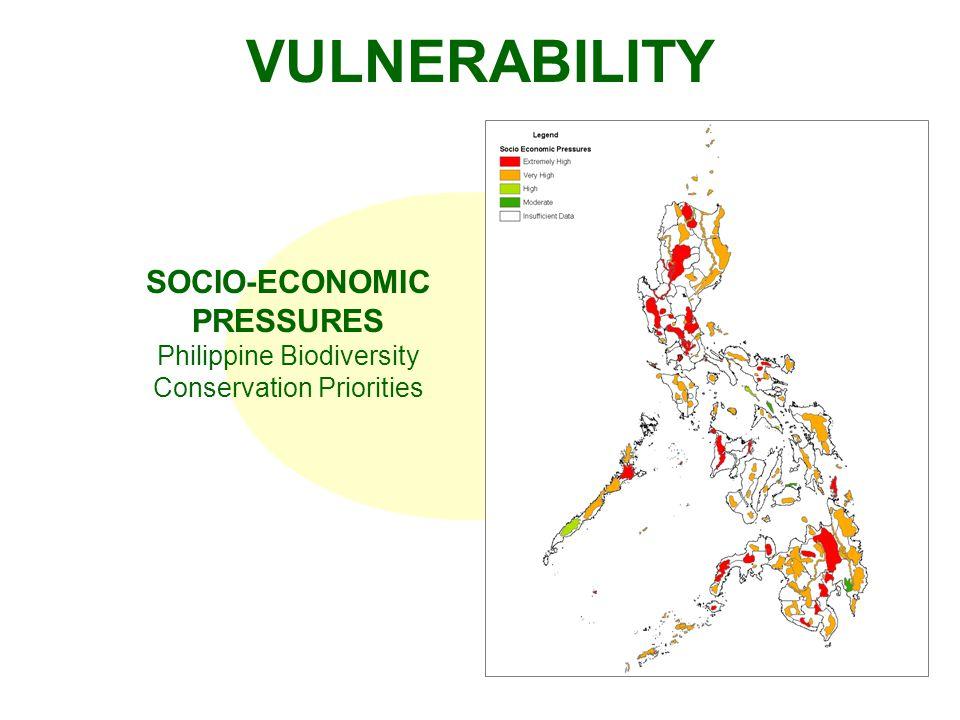 VULNERABILITY SOCIO-ECONOMIC PRESSURES Philippine Biodiversity Conservation Priorities