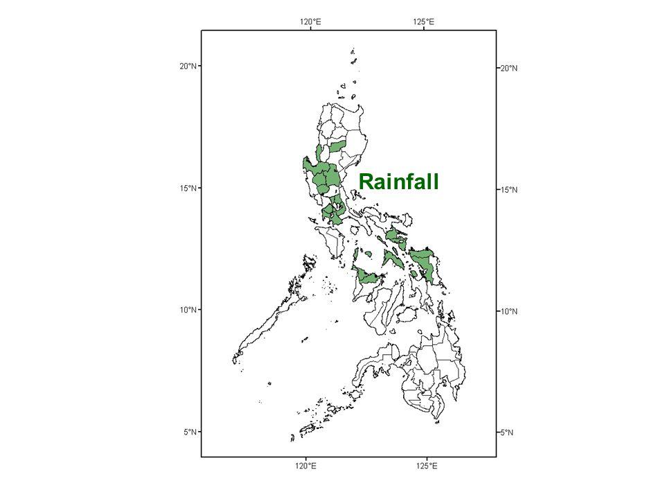 Typhoons El Niño Earthquake EQ-Induced Landslides Volcano Tsunami Temperature Rainfall