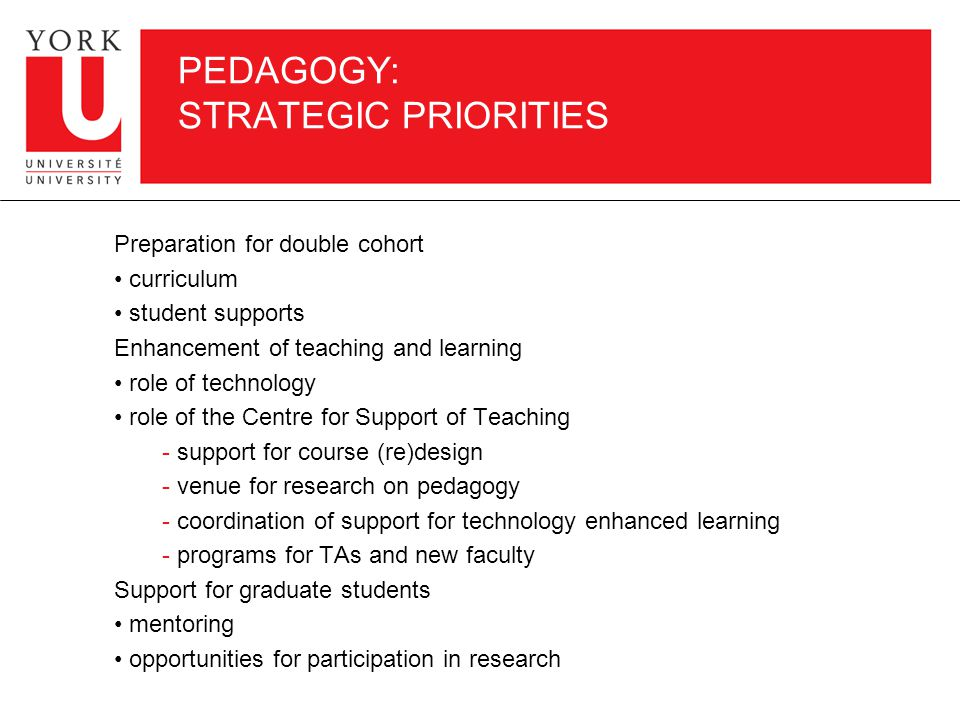 COMPLEMENT PLANNING: AREAS OF STRATEGIC PRIORITY Humanities and Social Sciences Environmental Studies Fine Arts Professional Areas: – Business – Education – Law Health-Related Science: – Applied science and engineering – Pure and natural science