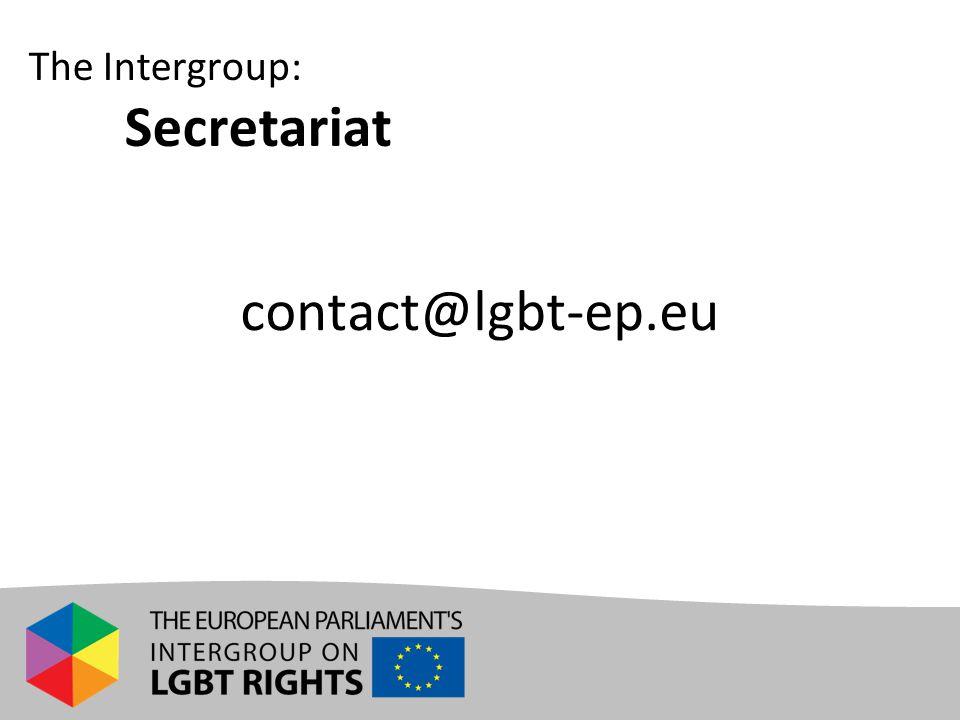 The Intergroup: Secretariat contact@lgbt-ep.eu