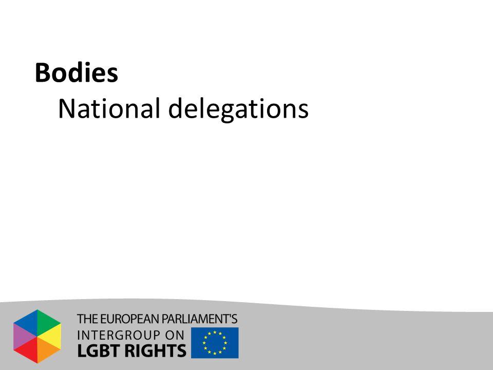 Bodies - National delegations