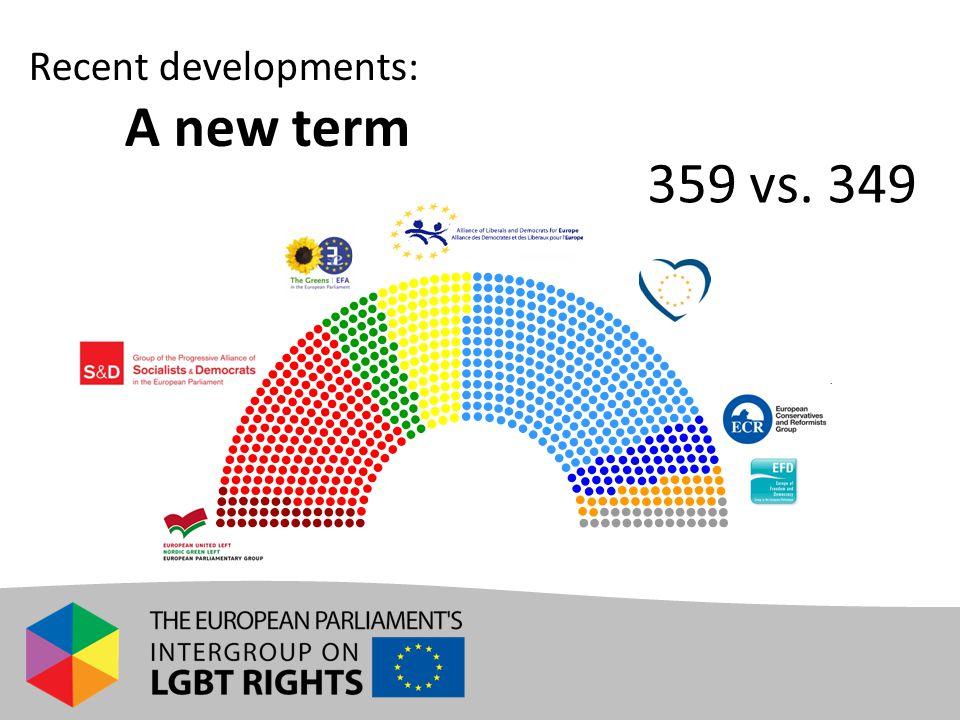 Recent developments: A new term 359 vs. 349