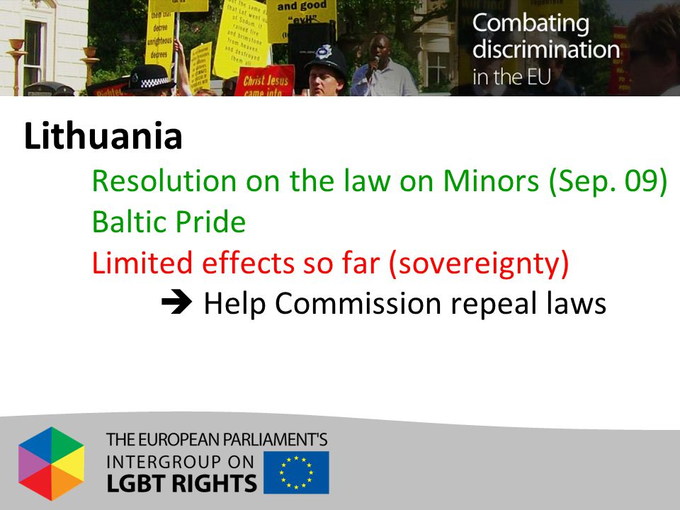 Lithuania Resolution on the law on Minors (Sep.