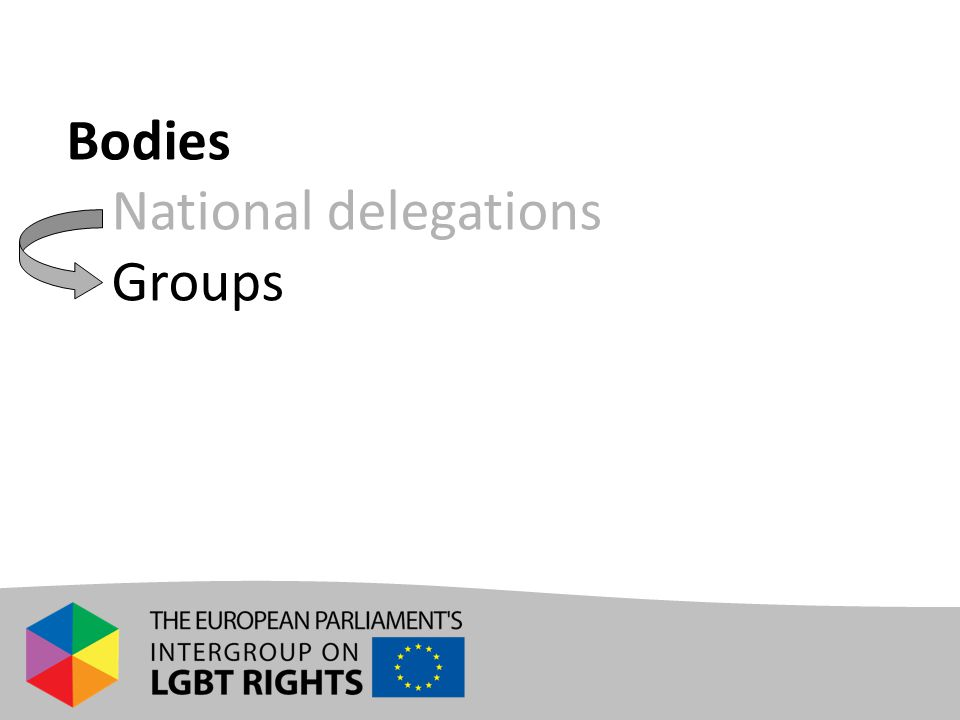 Bodies - National delegations - Groups
