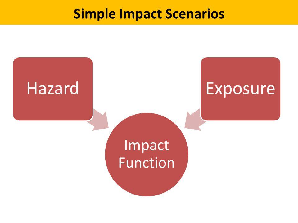 Impact Function HazardExposure Simple Impact Scenarios