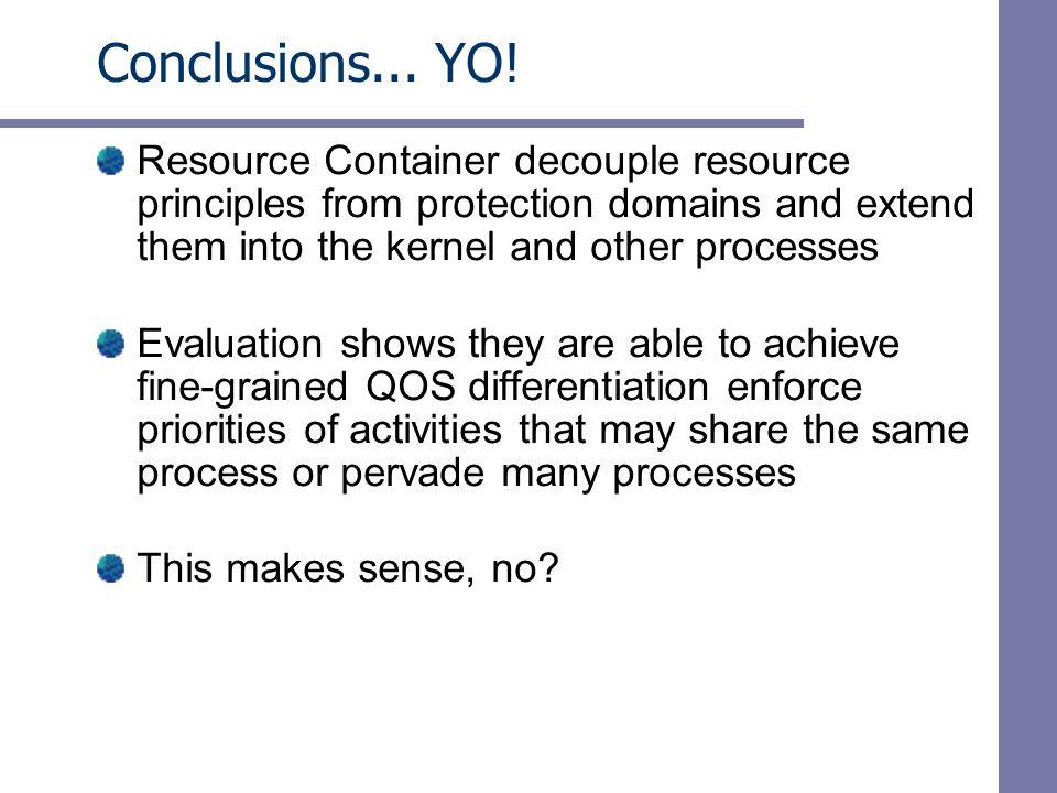 Conclusions... YO.