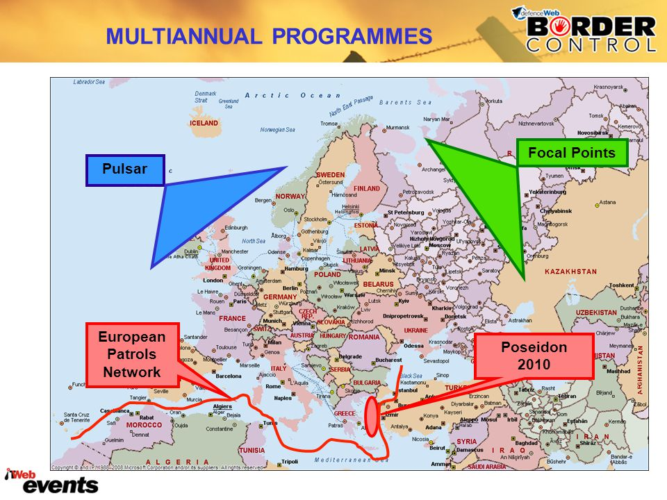MULTIANNUAL PROGRAMMES European Patrols Network Pulsar Poseidon 2010 Focal Points