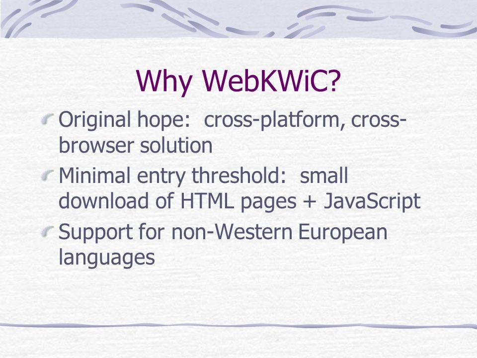 Why WebKWiC.