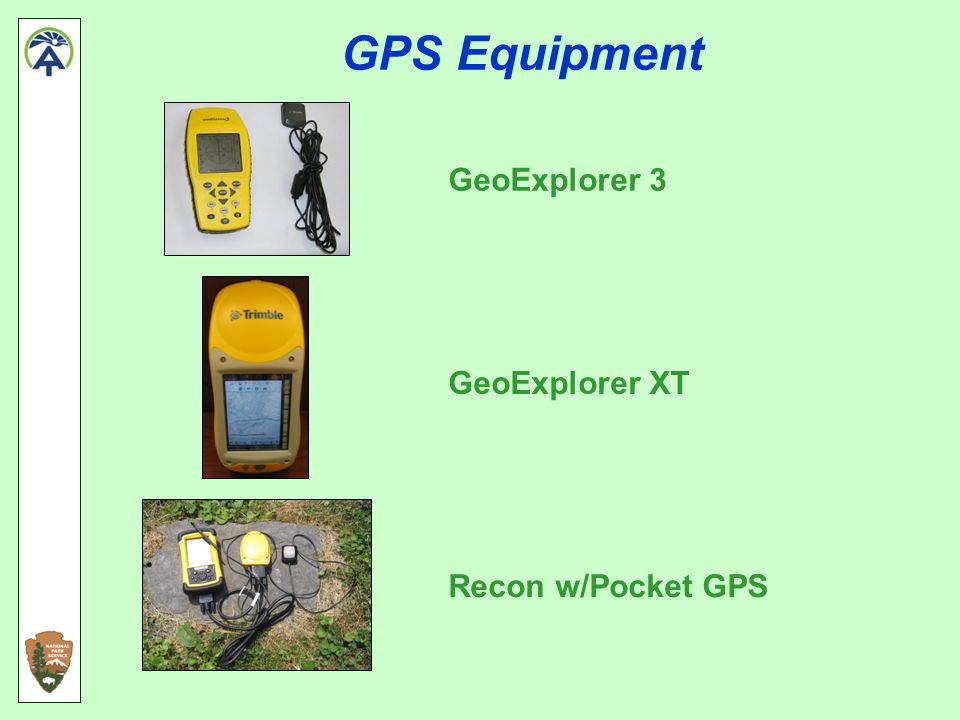 GPS Equipment GeoExplorer 3 GeoExplorer XT Recon w/Pocket GPS