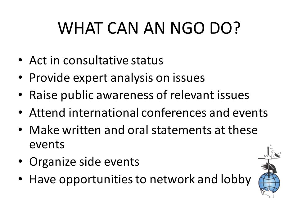 WHAT CAN WUCWO, AS A CATHOLIC NGO, DO.