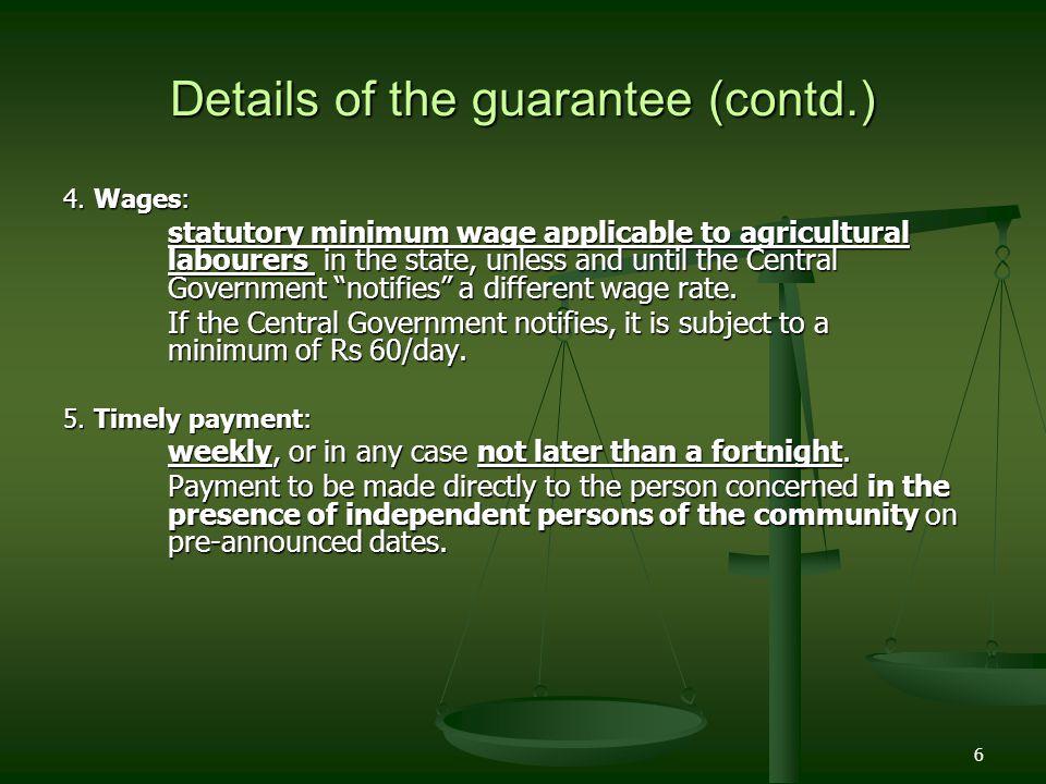 7 Employment Guarantee Scheme 1.Employment Guarantee Scheme: 2.