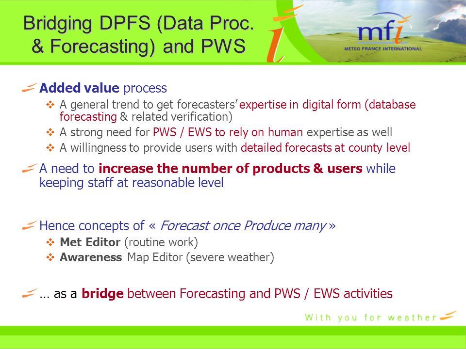 Bridging DPFS (Data Proc.