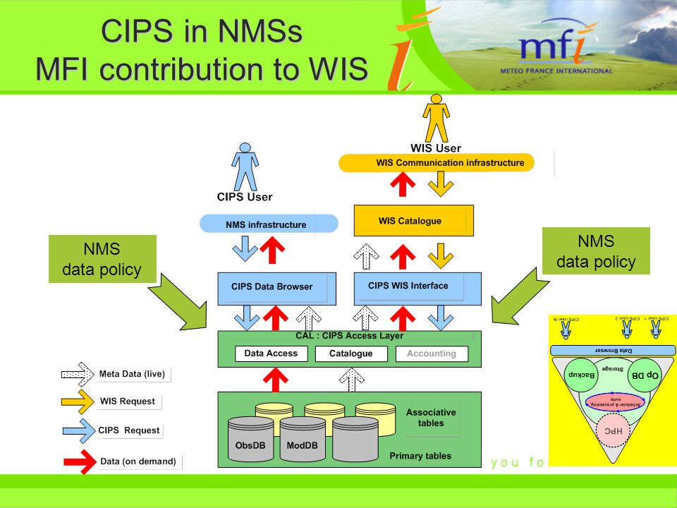CIPS in NMSs MFI contribution to WIS NMS data policy