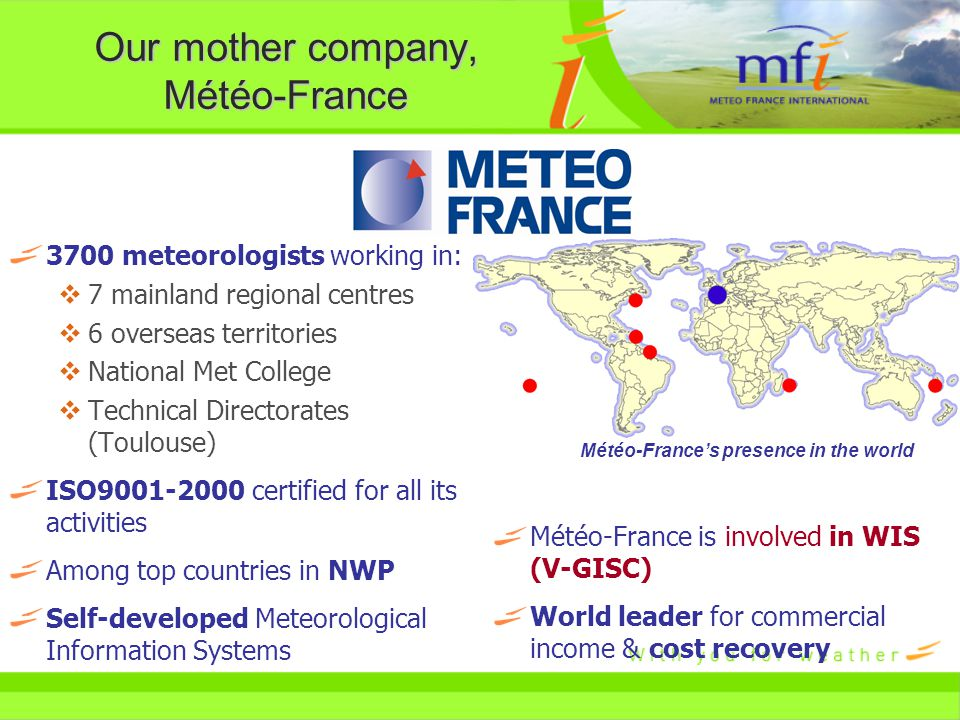 Global projects with Meteo France International