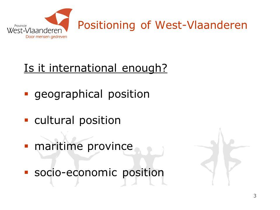 3 Positioning of West-Vlaanderen Is it international enough.