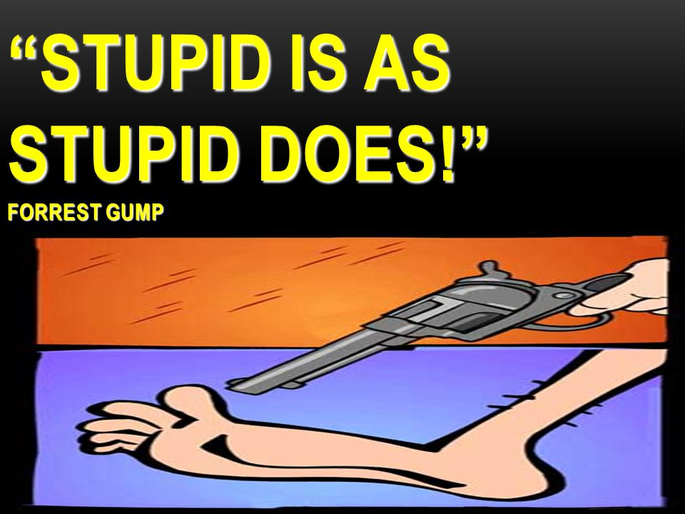 STUPID IS AS STUPID DOES! FORREST GUMP