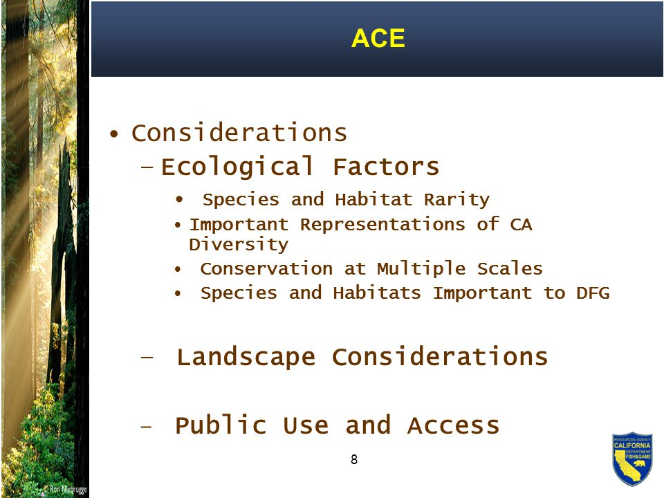 19 Advanced Mitigation Planning 2004 Presidential Executive Order on Facilitation of Cooperative Conservation requires Departments implement laws relating to the environment and natural resources in a manner that promotes cooperative conservation.