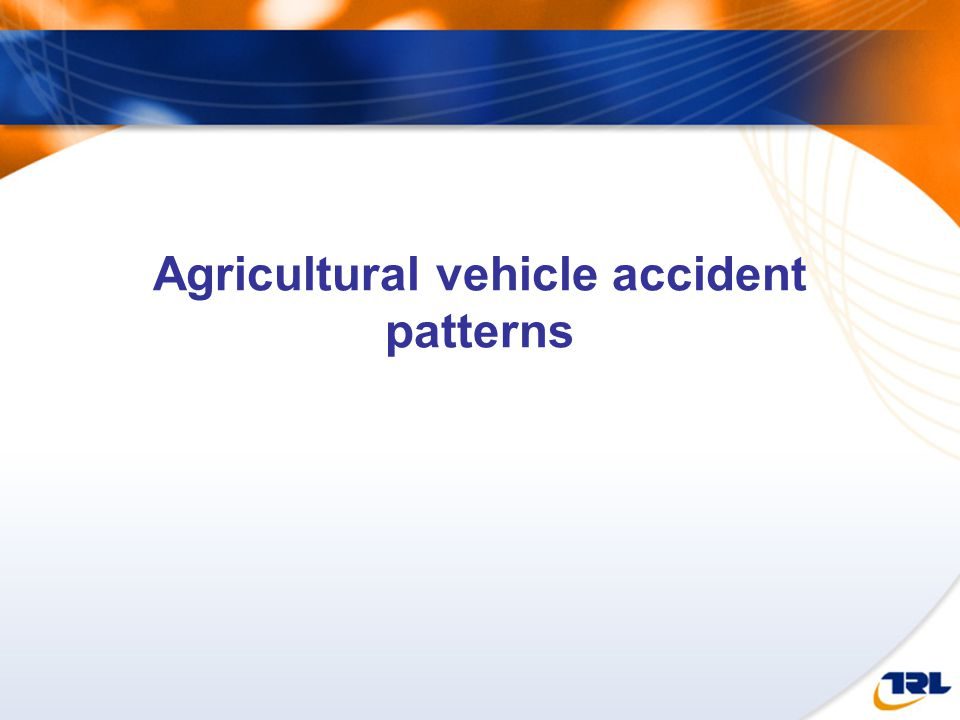 Agricultural vehicle accident patterns