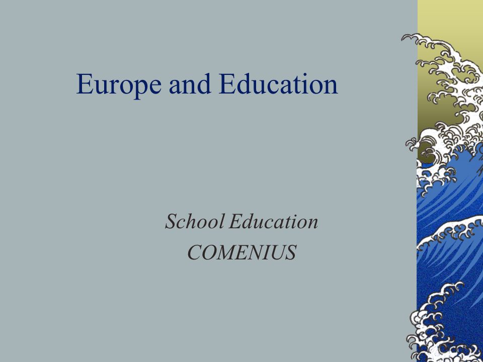 Comenius 2 TRAINING OF SCHOOL EDUCATION STAFF