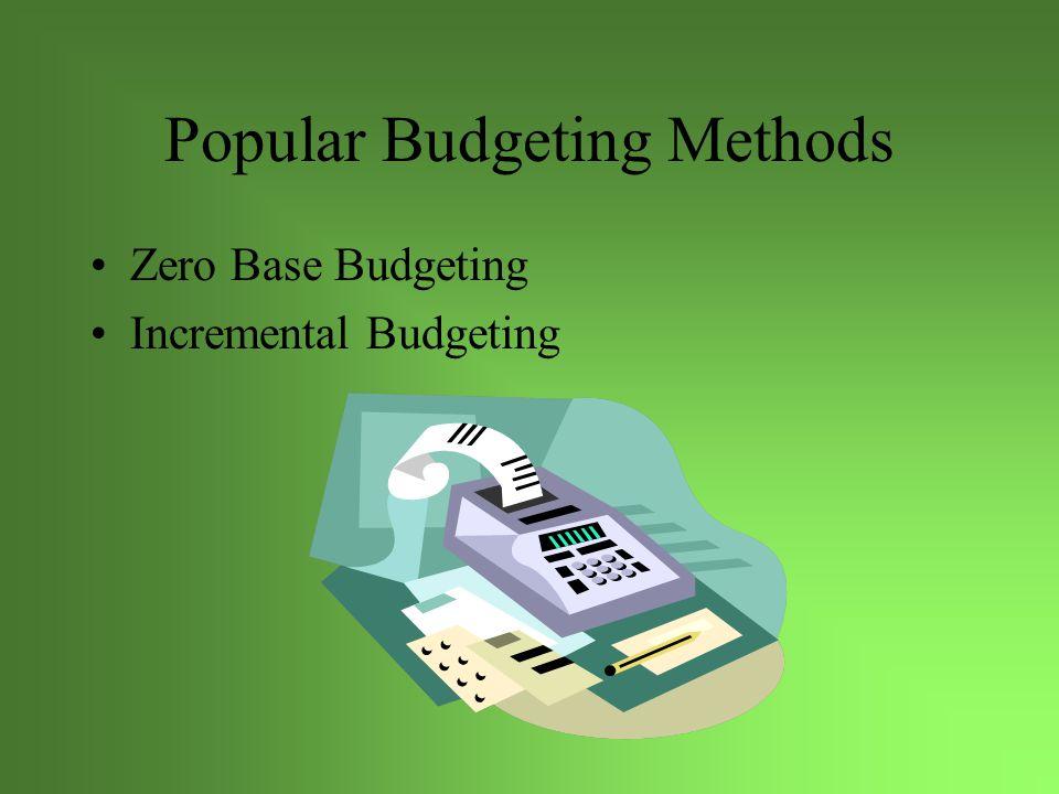 Popular Budgeting Methods Zero Base Budgeting Incremental Budgeting