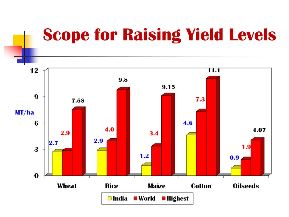 Scope for Raising Yield Levels