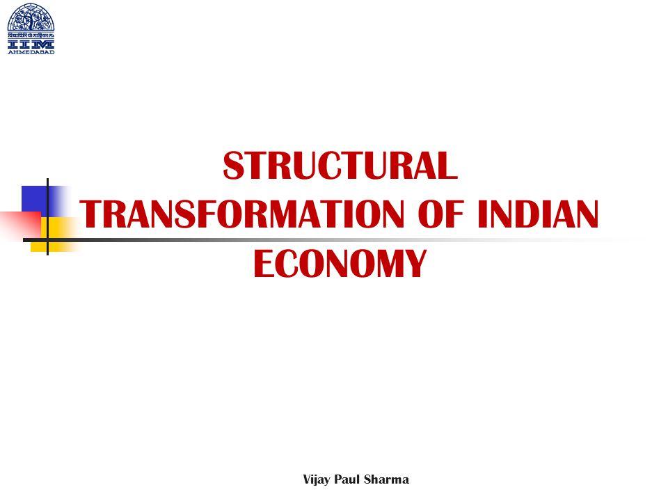 STRUCTURAL TRANSFORMATION OF INDIAN ECONOMY Vijay Paul Sharma