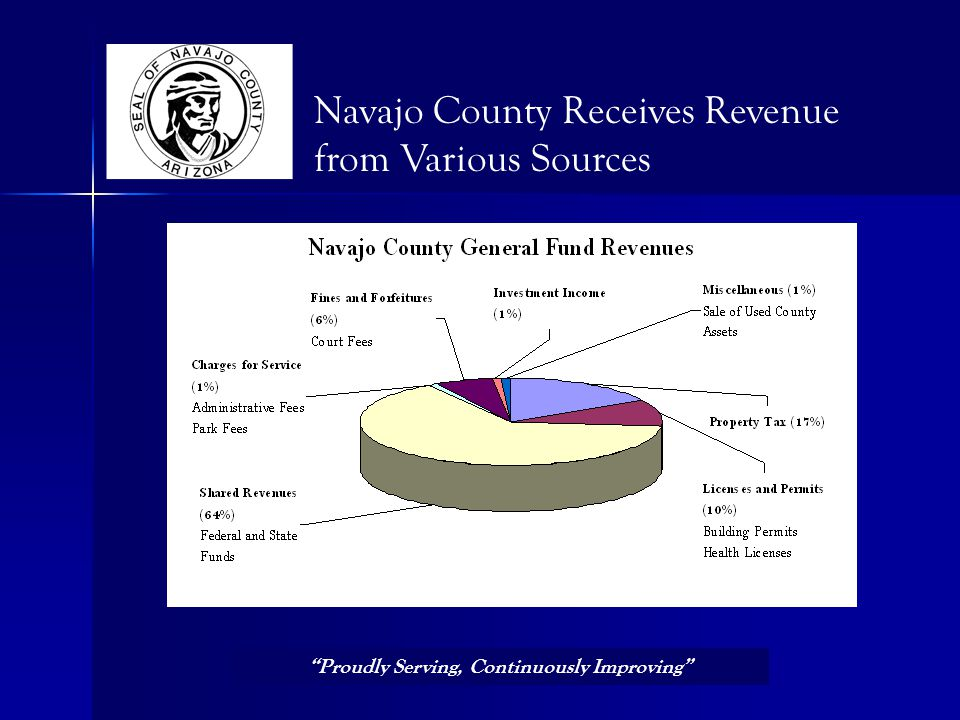 Navajo County Receives Revenue from Various Sources