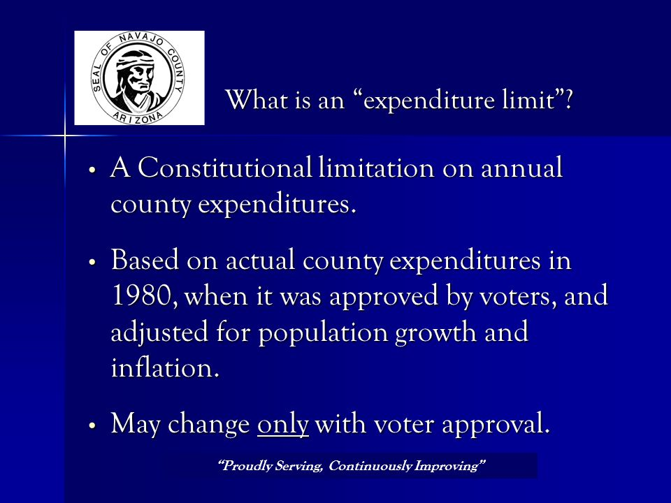 A Constitutional limitation on annual county expenditures.