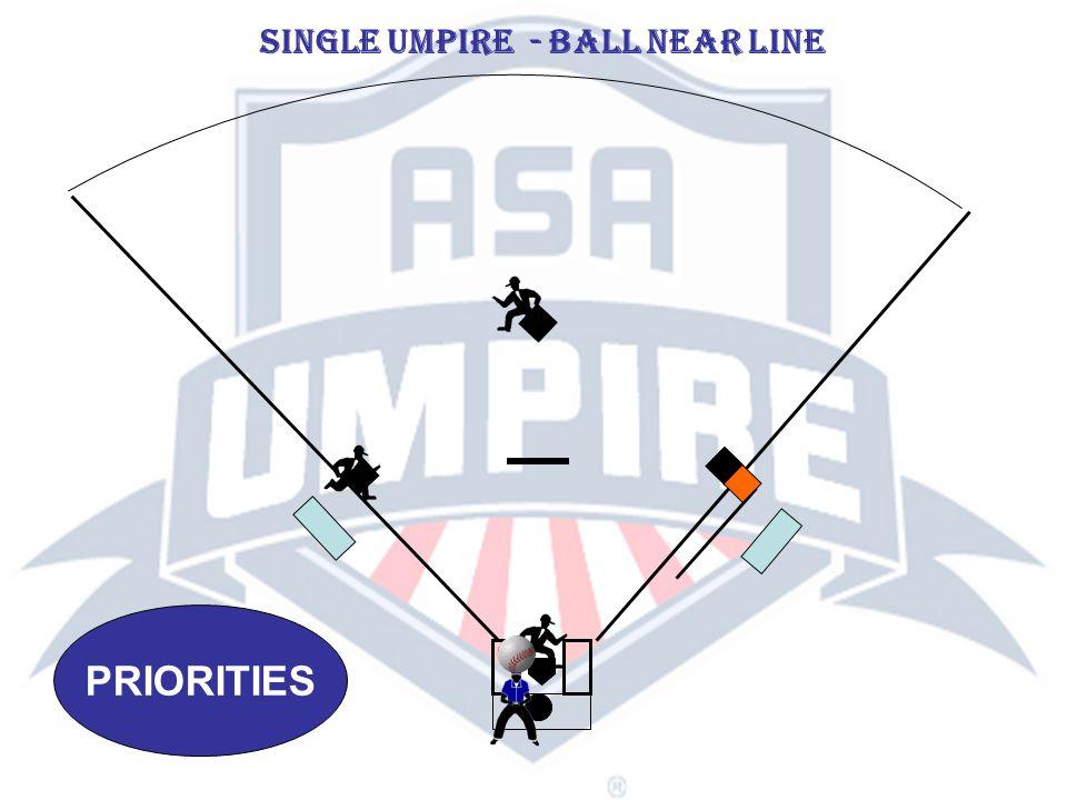 PRIORITIES SINGLE UMPIRE - BALL NEAR LINE